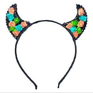 Art Deco Bling Horns Headband